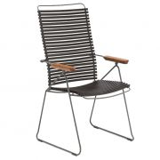 Krzesło CLICK wysokie, regulowane, czarne 20