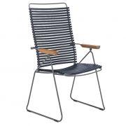 Krzesło CLICK wysokie, regulowane, ciemnoniebieski 91