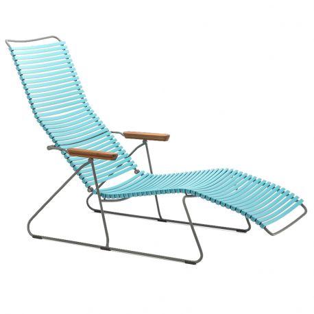Krzesło CLICK SUNLOUNGER, turkusowe 78 - Houe