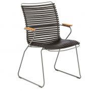 Krzesło CLICK wysokie z podłokietnikami,, czarne 20