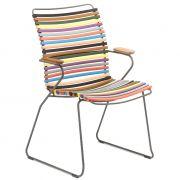 Krzesło CLICK wysokie z podłokietnikami, multicolor 1 83