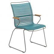 Krzesło CLICK wysokie z podłokietnikami, petrol 77 - Houe