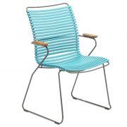 Krzesło CLICK wysokie z podłokietnikami, turkusowy 78