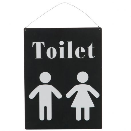 Tabliczka dwustrona TOILET/WC  - J-Line