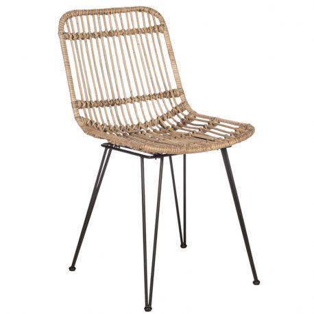 Krzesło rattanowe, naturalne - J-Line