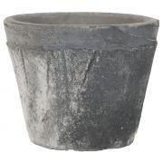 Osłonka na doniczkę szaro-czarna mała