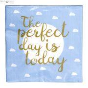 Serwetki papierowe niebieskie 20 sztuk THE PERFECT ....
