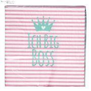 Serwetki papierowe różowe, opk. 20 szt. ICH BIG BOSS