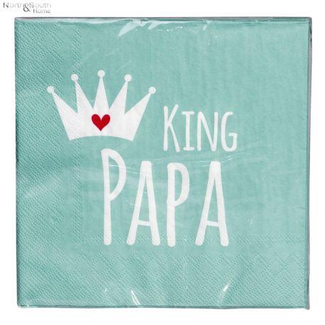 Serwetki papierowe zielone, opk. 20 szt. KING PAPA
