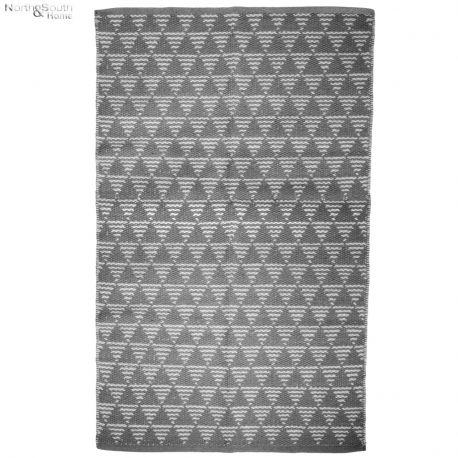 Dywanik kremowy z szarym wzorem I, 70x140 cm