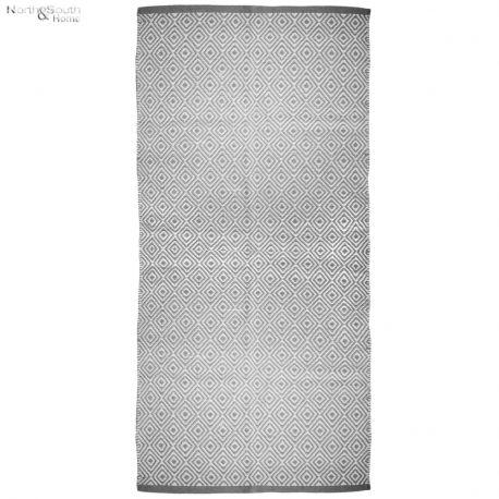 Dywanik kremowy z szarym wzorem III, 70x140 cm