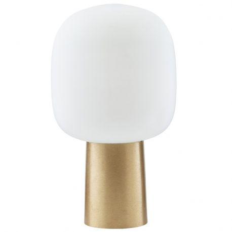 Lampa stojąca NOTE mosiądź/białą - House Doctor