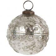Bańka  srebrna, postarzana 7.1 cm
