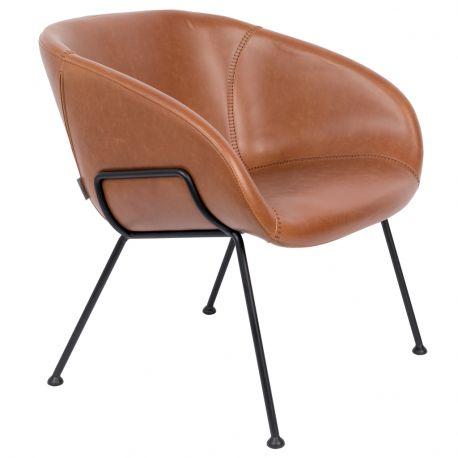 Fotel  LUONGE FESTON,  brązowy - Zuiver
