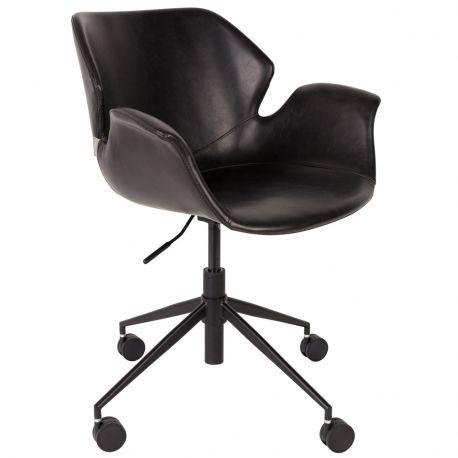 Krzesło biurowe NIKKI czarne - Zuiver
