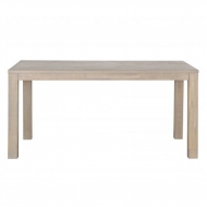 Stół dębowy LARGO 180x85 cm szary