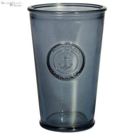 Szklanka ze szkła z recyklingu granatowa
