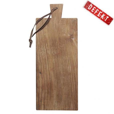 Deska do krojenia z drewna tekowego, średnia- DEFEKT - HK living