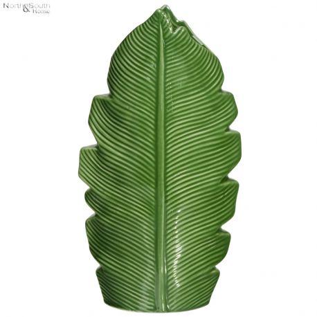 Wazon Janet w kształcie liścia, zielony