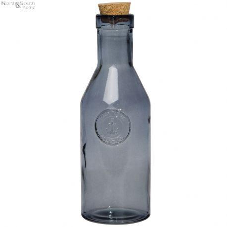 Butelka Anchor z korkiem, granatowa