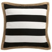 Poduszka 50x50, biało-czarna
