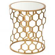 Stoliki złoty z lustrzanym blatem