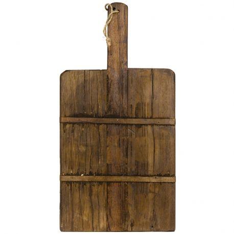 Deska do krojenia z drewna z recyklingu, rozmiar L - Madam Stoltz