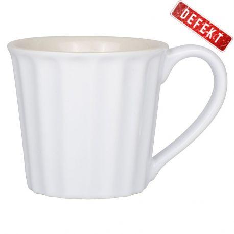 Kubek ceramiczny z uchem, biały DEFEKT 3 - Ib Laursen