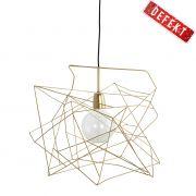 Lampa ASYMMETRIC 45x45 cm złota DEFEKT