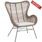 Fotel rattanowy z poduszką DEFEKT