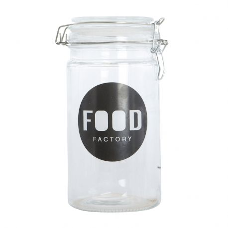 Słoik FOOD FACTORY, h 20,5 cm - House Doctor