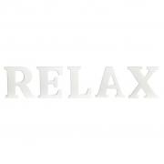 """Drewniane litery """"RELAX"""", kpl. 5 szt - Hübsch"""