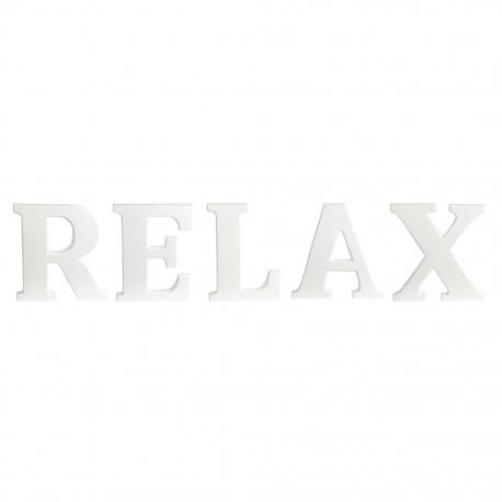 """Drewniane litery """"RELAX"""""""