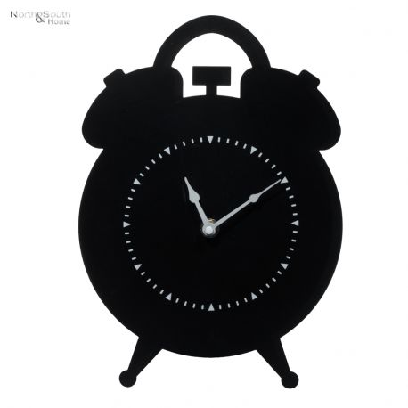 Zegar metalowy, czarny