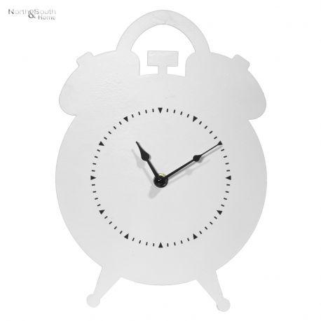 Zegar metalowy, biały