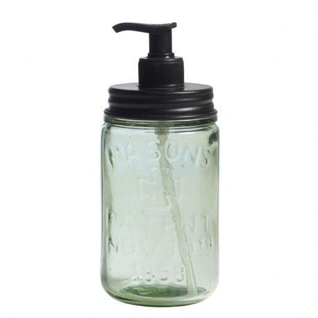 Pojemnik na mydło w  płynie ze szkła z recyklingu, rozmiar M