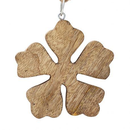 Ozdoba świąteczna PŁATEK ŚNIEGU 1 mały, drewno