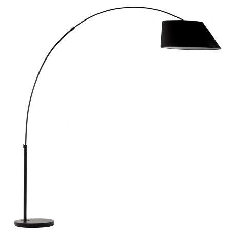 Lampa podłogowa ARC czarna