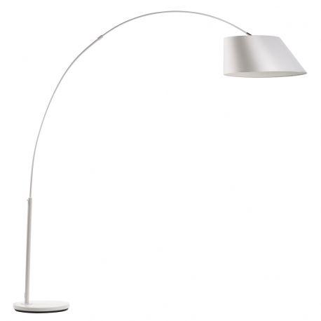Lampa podłogowa ARC biała