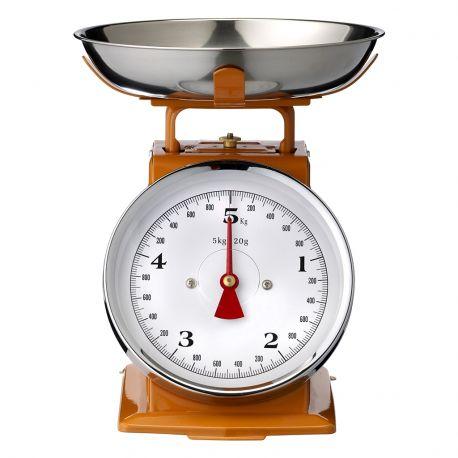 Waga kuchenna, 5 kg, pomarańczowa