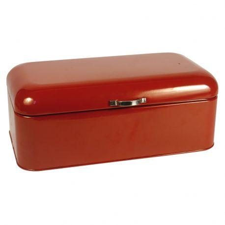 Chlebak metalowy, czerwony