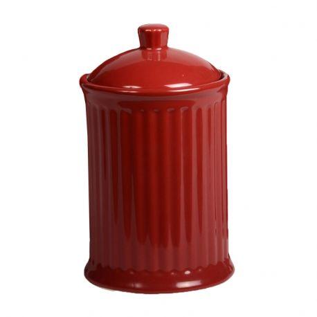 Pojemnik ceramiczny MYNTE z przykrywką, czerwony
