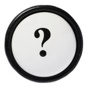 Gałka porcelanowa ze znakiem zapytania