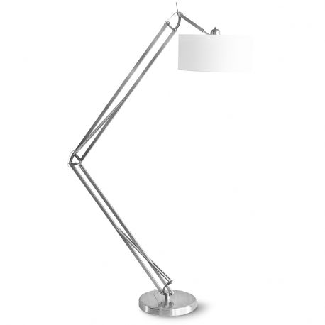 Lampa podłogowa MILANO niklowana