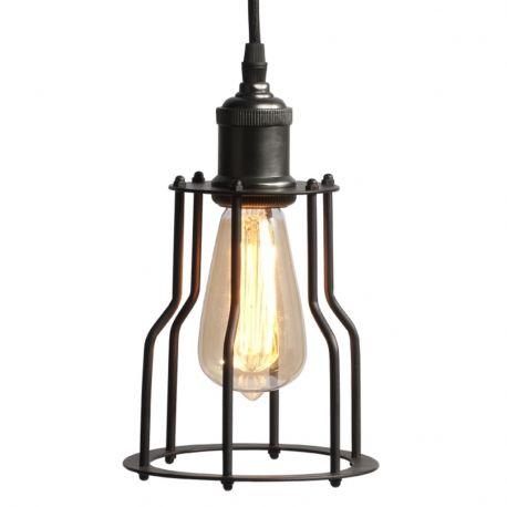 Lampa wisząca RIGA z metalowym abażurem