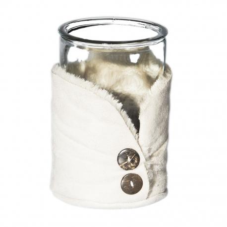 Lampion szklany z guziczkami, duży