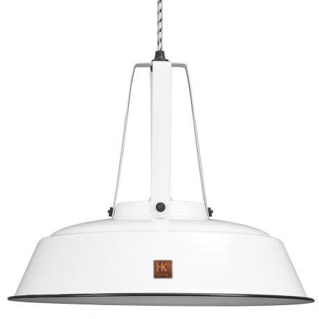 Lampa WORKSHOP M-29,5 cm, biała