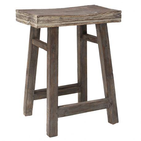Stołek drewniany rustykalny - HK living