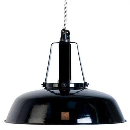 Lampa WORKSHOP M-29,5 cm, czarna