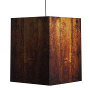 Lampa PENDANT przypalane drewno